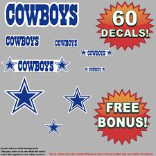 wholesale lot of 60 dallas cowboys printed vinyl decals stickers