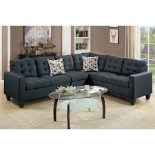 reversible sectional sofas poundex bobkona burril reversible sectional f6937 f6938
