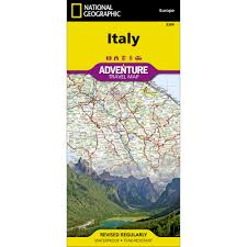 Italy Road Map by Italy Adventure Map National Geographic Store