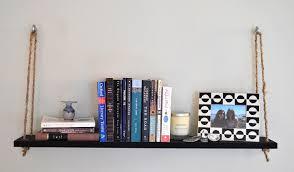 how to make a diy chic hanging bookshelf
