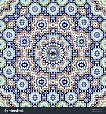 seamless pattern moroccan style mosaic tile stock vector 21943465