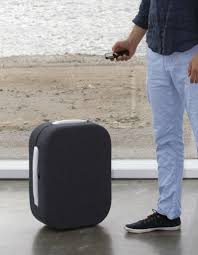 a suitcase that follows its owner through bluetooth connection
