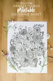 bloom free coloring sheet lemon thistle