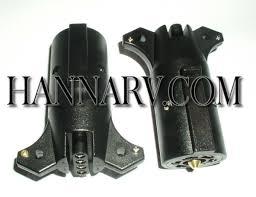 pollak 12 744ev 7 way rv to 5 way flat trailer connector adapter