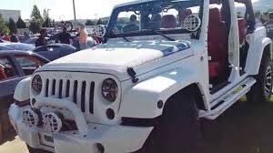 white and black jeep wrangler custom starwood motors jeep youtube