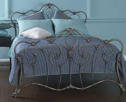 Iron Bed Frames King Obc Athalone 4ft 6 Silver Patina Metal Bed Frame By