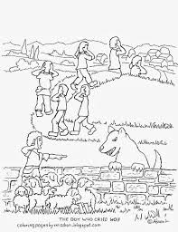 the boy who cried wolf coloring pages funycoloring