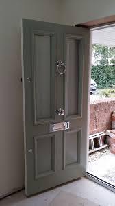 coloured glass door knobs victorian front door an farrow and ball blue grey www