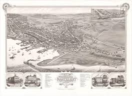 Town Map Of Massachusetts by Lovely Nantucket Bird U0027s Eye View Rare U0026 Antique Maps