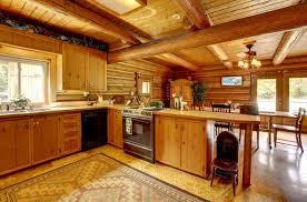 vollholzküche holzhaus mit vollholzküche und schwarzem gerät aplusdp