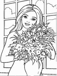 kids barbie coloring pages childrens