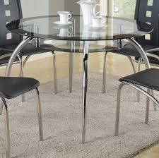 crown mark mila round glass dining table with suspended platform