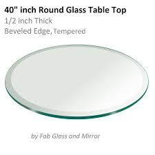 40 Inch Table Glass Table Top 40 Inch Round Beveled Edge Tempered