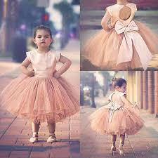 pageant dresses for girls sleeves 2017 blush pink satin top