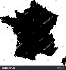 Germany Map Outline by Map Outline Mask European Country France Stock Illustration