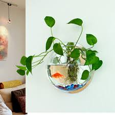 Goldfish In A Vase Aliexpress Com Buy Aquarium Acrylic Fish Tank Wall Hanging