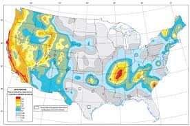 maps of united state map of earthquake probabilities across the united states