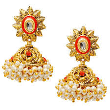 jhumki earring pearl jhumki earrings at rs 110 pair pearl earrings id