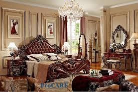 solid wood bedroom furniture sets american style bedroom furniture set with red real leather solid