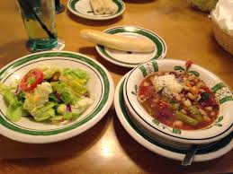 lunch was a quick one at olive garden the unlimited soup salad