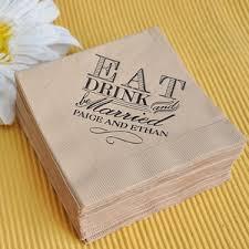 printed wedding napkins 10 ways to personalize your wedding personalized wedding ideas