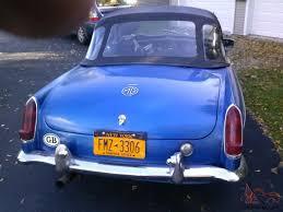 mgb roadster bright blue older restoration nice driver needs misc work