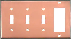 light switch covers 3 toggle 1 rocker copper decorative switch plates copper outlet covers