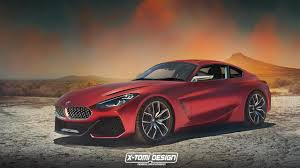 artist publishes rendering of a bmw z4 coupe concept