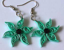 quilling earrings beautify themselves with earrings
