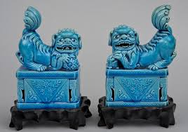 decor chinese stone carved foo dogs for home accessories ideas