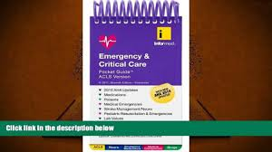 read online emergency critical care pocket guide acls version pre