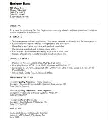 Manual Testing Fresher Resume Samples by Mobile Tester Cover Letter Sample Of Lpn Resume Qa Specialist