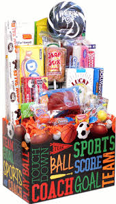 sports gift baskets back to school candy gifts sports candy gift basket with whirly pop