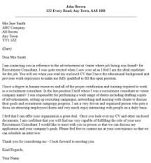 good cover letter for recruitment consultant position 31 on best