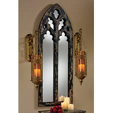 Ideas Design For Arched Window Mirror Shop Design Toscano Cathedral Black Gold Polished Arch Wall