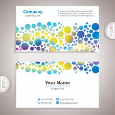 back of business cards excellent business cards front back template vector 11 vector