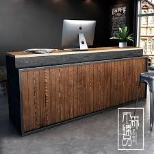 Hotel Reception Desk Usd 231 67 Retro Industrial Wind Cashier Barber Shop Front Desk