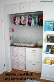 built in closet hack for bubbles u0027 nursery using closetmaid pieces
