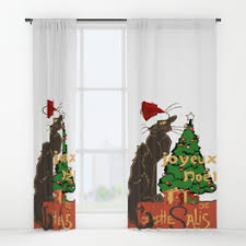 Santa Curtains November Window Curtains Society6