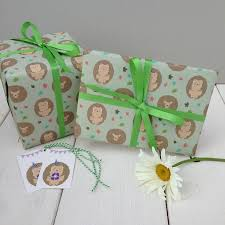 hedgehog wrapping paper hedgehog gift wrap by the blue owl notonthehighstreet