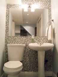 Small Bathroom Large Tiles Bathrooms Design White Decor Pictures Powder Modern Half