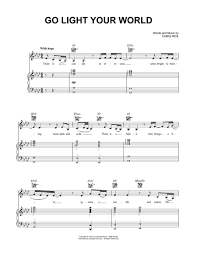 light of the world chords download go light your world sheet music by kathy troccoli sheet