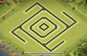 layout vila nivel 9 clash of clans mega cube maximized de protection base th8 post update anti giant