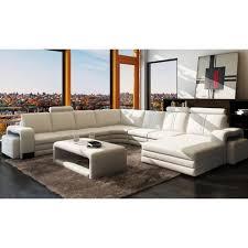 canapé sofa italien canapé d angle en cuir italien 8 places diamant achat vente