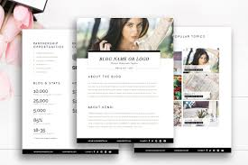 20 media kit templates to pitch your blog to brands and