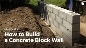 how to build a concrete wall diy projects youtube