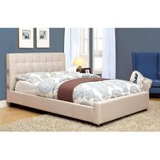 Fabric Platform Bed Furniture Of America Behati Fabric Upholstered Platform Bed With