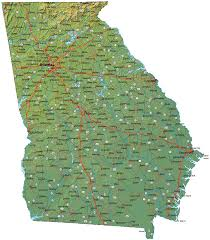 County Map Ga Georgia Maps And State Information