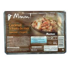cuisiner cocktail de fruits de mer surgelé mareyeur cocktail de fruits de mer 400 g auchan direct