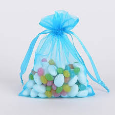 organza bag 10 turquoise organza favor bags fuzzy fabric